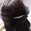 Thumbnail: baby pink pearl and light green crystal hair comb