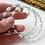 Thumbnail: aqua crystal & ivory rice pearl coil bracelet