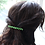 Thumbnail: green pearl and crystal hair barrette clip