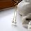 Thumbnail: single freshwater pearl on chain earrings