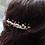 Thumbnail: peach pearl, ivory pearl & peach crystal hair comb
