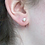 Thumbnail: 6mm pink freshwater pearl sterling silver studs