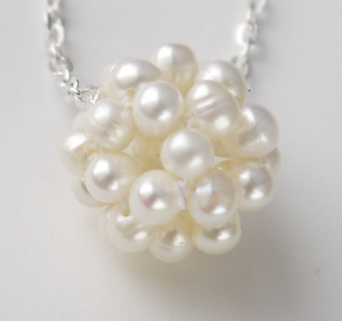 Medium Ivory Freshwater Pearl Cluster Necklace Pearls By Tabs