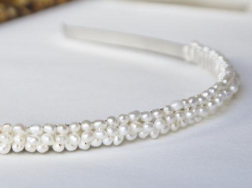 tiny nugget pearl bridal alice band/ headband