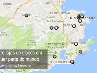 Mapa reúne quase todas as lojas de discos do mundo