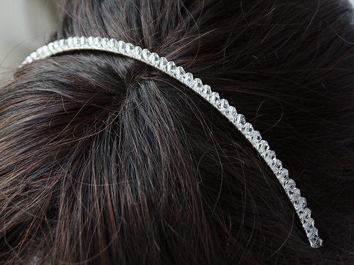 delicate clear crystal tiara headband