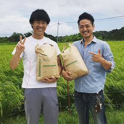 昨日は三重県にいてる同級生のところに米をもらいに行ってきました😁‼️_台風の影
