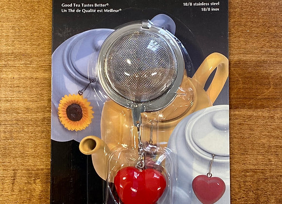 Mesh Tea Infuser with Heart Ornament