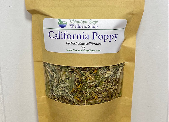 Organic California Poppy ∣ Herb Shop ∣ Bulk Herbs ∣ Organic Herbs ∣ Mountain Sage Wellness Shop
