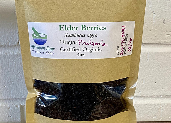 Certified Organic Elder Berries ∣ Mountain Sage Wellness Shop