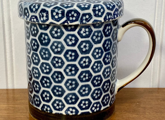 Blue Tile Teacup with Infuser