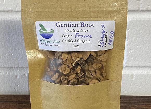 Certified Organic Gentian Root ∣ Mountain Sage Wellness Shop