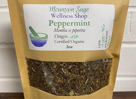 Certified Organic Peppermint Mountain Sage Wellness Shop