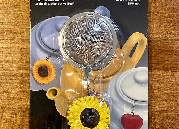 Mesh Tea Infuser with Sunflower Ornament
