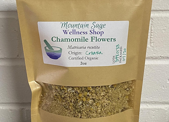 Certified Organic Chamomile Flowers ∣ Mountain Sage Wellness Shop
