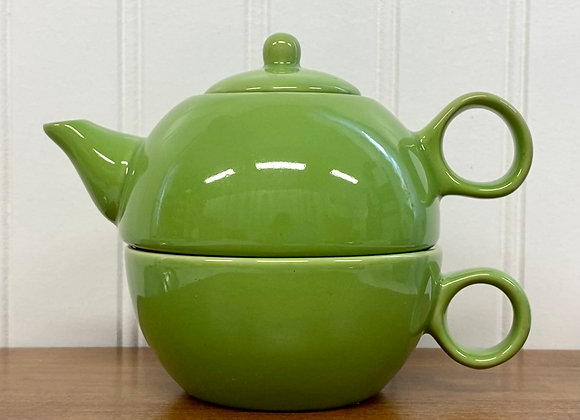 Ceramic Teapot 1 Cup Lime Green