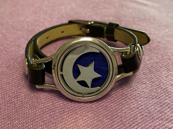Double Strap Diffuser Bracelet ~ Moon and Star