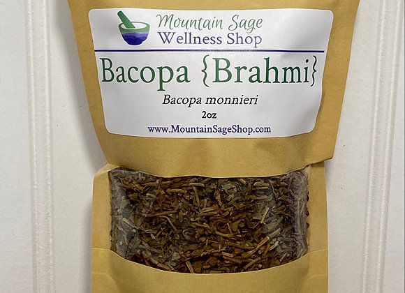 Organic Bacopa Brahmi ∣ Herb Shop ∣ Brain Mental Herbs ∣ Organic Herbs ∣ Mountain Sage Wellness Shop