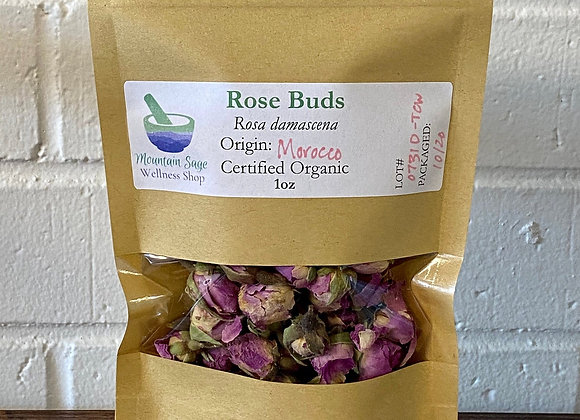 Certified Organic Rose Buds ∣ Mountain Sage Wellness Shop