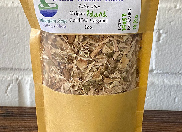 Certified Organic White Willow Bark