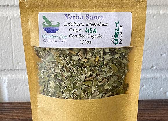Certified Organic Yerba Santa ∣ Mountain Sage Wellness Shop
