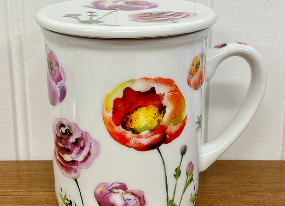 Botanical Teacup with Infuser
