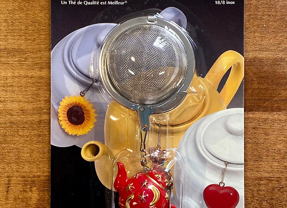 Mesh Tea Infuser with Red Celestial Teapot Ornament