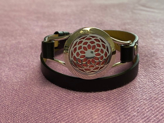 Double Strap Diffuser Bracelet ~ Seed of Life