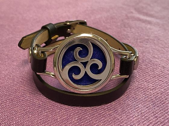 Double Strap Diffuser Bracelet ~ Triple Swirl
