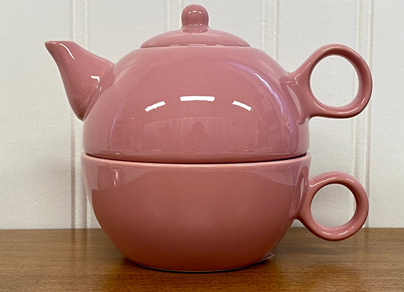 Ceramic Teapot 1 Cup Dusty Rose