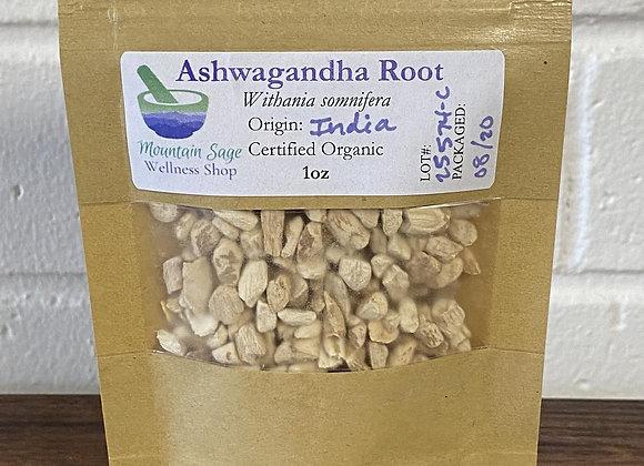 Certified Organic Ashwagandha Root ∣ Mountain Sage Wellness Shop