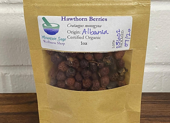 Certified Organic Hawthorn Berries ∣ Mountain Sage Wellness Shop