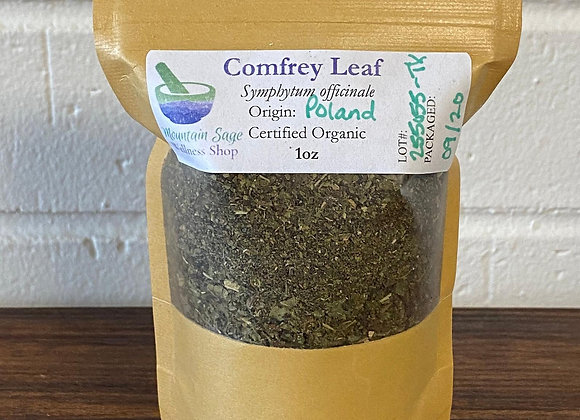 Certified Organic Comfrey Leaf ∣ Mountain Sage Wellness Shop