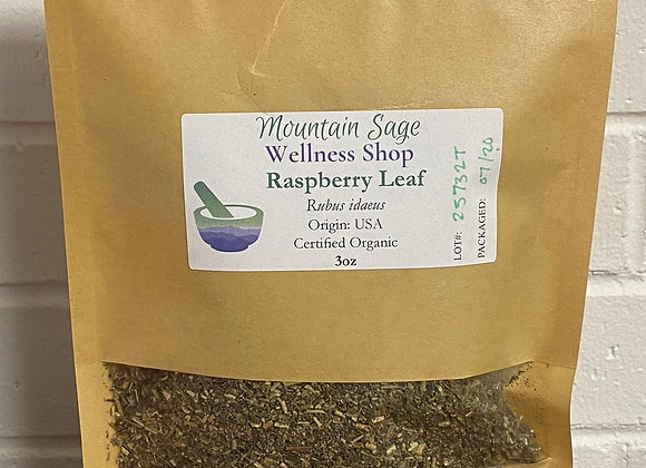 Certified Organic Red Raspberry Leaf Mountain Sage Wellness Shop