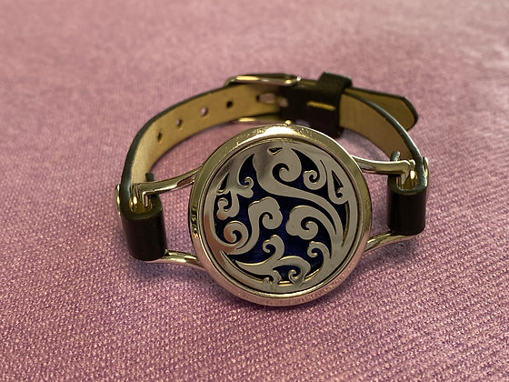 Single Strap Diffuser Bracelet ~ Swirl