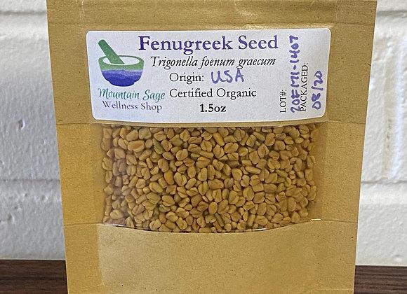 Certified Organic Fenugreek Seed ∣ Mountain Sage Wellness Shop