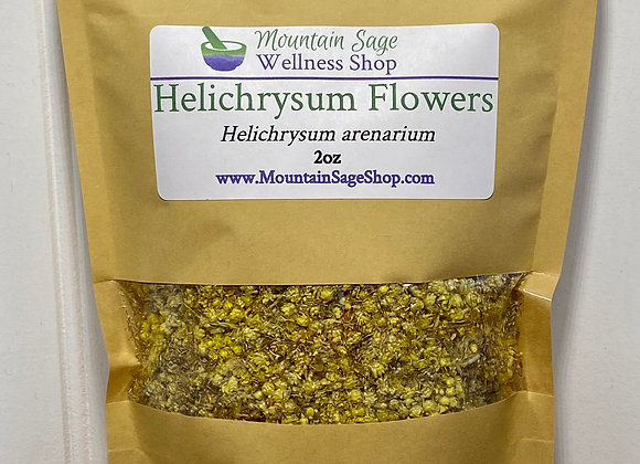 Organic Helichrysum Flowers ∣ Herb Shop ∣ Bulk Herbs ∣ Organic Herbs ∣ Mountain Sage Wellness Shop