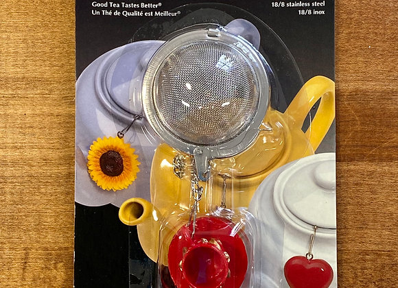 Mesh Tea Infuser with Red Celestial Tea Cup Ornament
