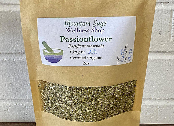Certified Organic Passionflower Mountain Sage Wellness Shop