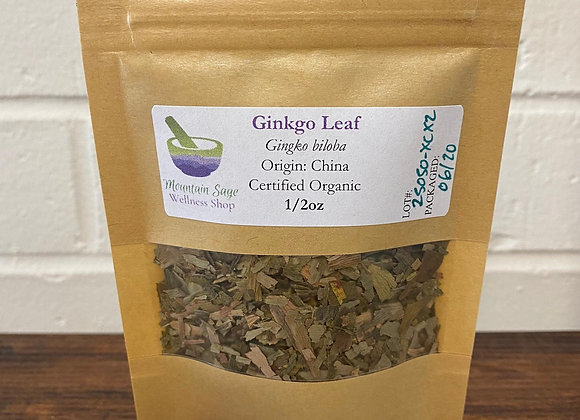 Certified Organic Ginkgo Leaf ∣ Mountain Sage Wellness Shop