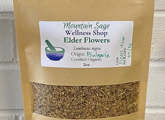 Certified Organic Elder Flowers ∣ Mountain Sage Wellness Shop