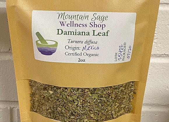 Certified Organic Damiana Leaf ∣ Mountain Sage Wellness Shop
