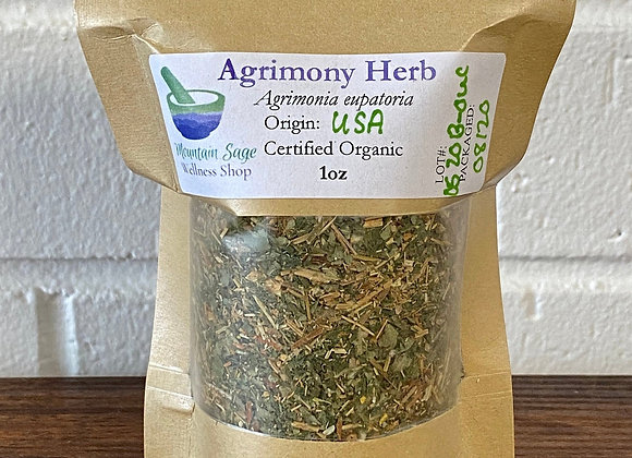 Certified Organic Agrimony ∣ Mountain Sage Wellness Shop