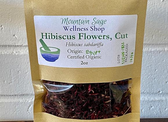 Certified Organic Hibiscus Flowers ∣ Mountain Sage Wellness Shop