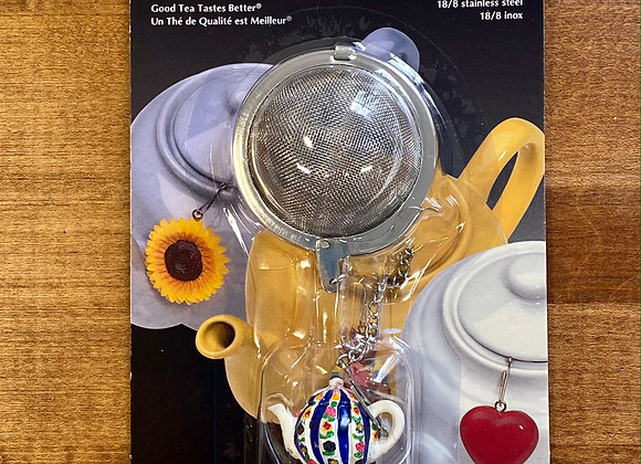 Mesh Tea Infuser with Flower Teapot Ornament