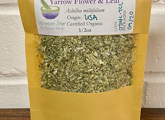 Certified Organic Yarrow Flower & Leaf