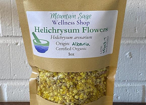 Certified Organic Helichrysum Flowers ∣ Mountain Sage Wellness Shop