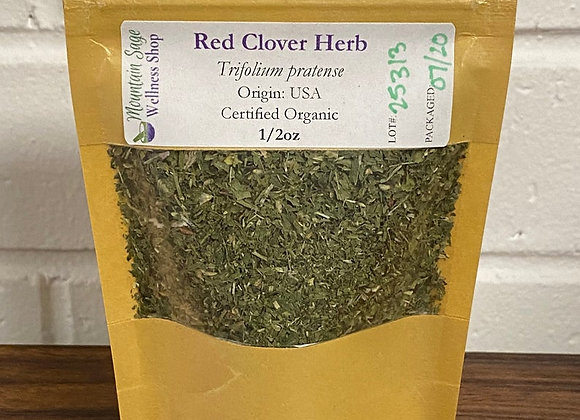 Certified Organic Red Clover Herb Mountain Sage Wellness Shop