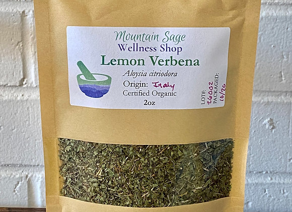 Certified Organic Lemon Verbena ∣ Mountain Sage Wellness Shop