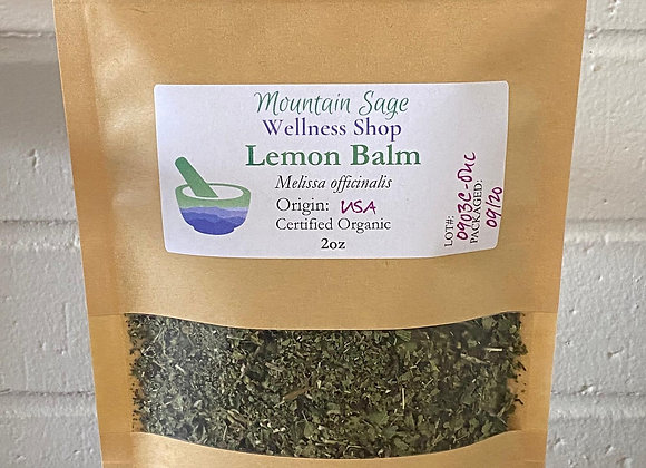 Certified Organic Lemon Balm ∣ Mountain Sage Wellness Shop